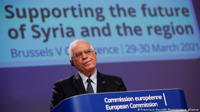 Belgien Brüssel   Pressekonferenz Internationale Geberkonferenz Syrien   Josep Boorrell