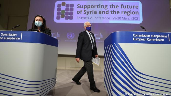 Belgien Brüssel   Pressekonferenz Internationale Geberkonferenz Syrien