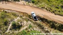 Mosambik Palma | zerstörtes Fahrzeug nach Angriff auf Hotel Amarula