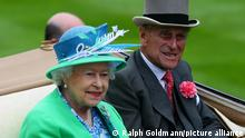 Prinz Philip Herzog Duke of Edinburgh | Königin Elizabeth II. Pferderennen Royal Ascot 2012
