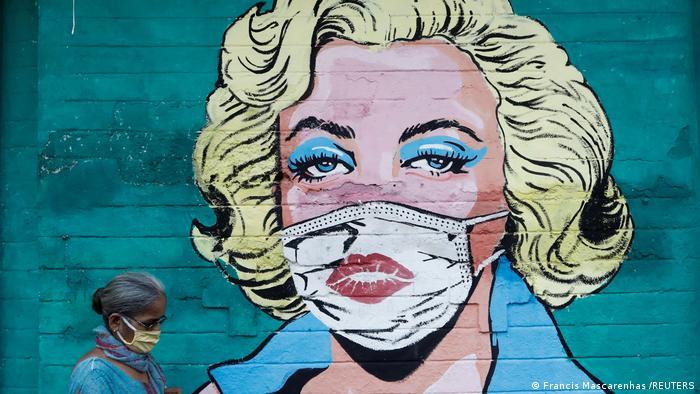 Weltspiegel 31.03.2021 | Indien | Marilyn Monroe Covid Graffiti in Mumbai
