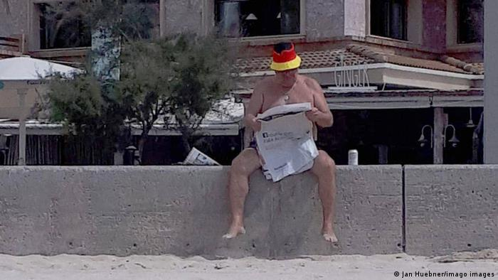 German tourist in Mallorca