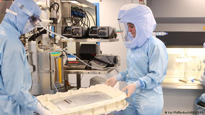 Centro de producción de la vacuna de BioNTech/Pfizer en Marburgo, en el estado alemán de Hesse.