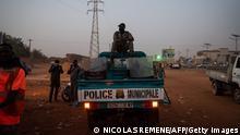 Niger Niamey bei Nacht
