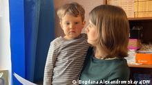 Belarus Frau und Kind des oppositionellen Politikers Pawel Sewerinez