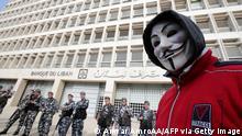 Libanon Wirtschftskrise Demonstrationen gegen den finanziellen Zusammenbruch