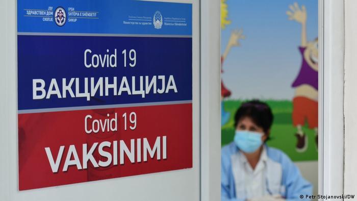 Nord Mazedonien Corona Impfung in Skopje