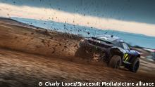 Dec. 19, 2020, Extreme E Preseason Testing, MotorLand Aragon: The Team X44 Spark ODYSSEY 21 of Sebastien Loeb and Cristina Gutierrez on track. Photo: Charly Lopez