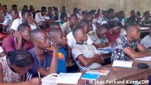 Afrika Studenten während eines Kurses in der Zentralafrikanischen Republik