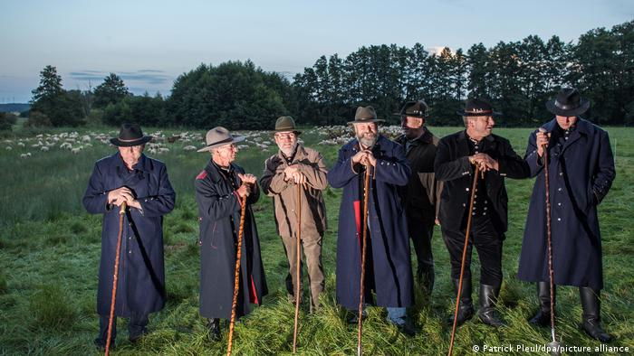 shepherds during wolf watch in Brandenburg