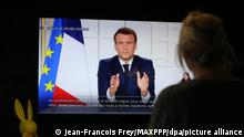 Frankreich | Coronavirus | TV Ansprache Emmanuel Macron