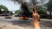 Protest gegen Militärputsch in Myanmar