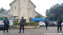 Süd Sulawesi Makassar Kirche Polizeischutz Terrorismus neu
