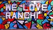 Indien Wandmalereien von einem Künstler aus Jharkhand