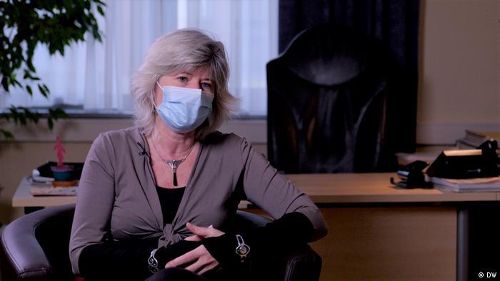 Belgian psychiatrist Sophie Maes in her office