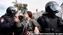 Weltzeit 1 | 2021 | Polizei nimmt Journalistin in Moskau fest