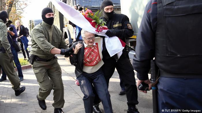 Задержание активистки Нины Багинской в Минске