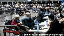 Bildergalerie Frankreich vor landesweitem Lockdown | Lyon, Impfzentrum