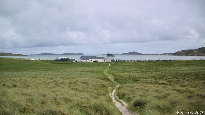 The airport on the Scottish island of Barra