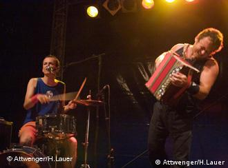 Attwenger at Rudolstadt, Germany's biggest folk music festival