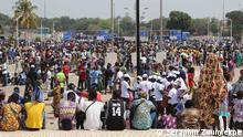 ***ACHTUNG: Bild nur zur mit der Rechteinhaberin abgesprochenen Berichterstattung verwenden!*** 26.3. in Cotonou. Wahlkampagne im Vorfeld der Präsidentschaftswahl am 11.4.2021. via Frejus Quenum Foto: Séraphin Zounyekpe