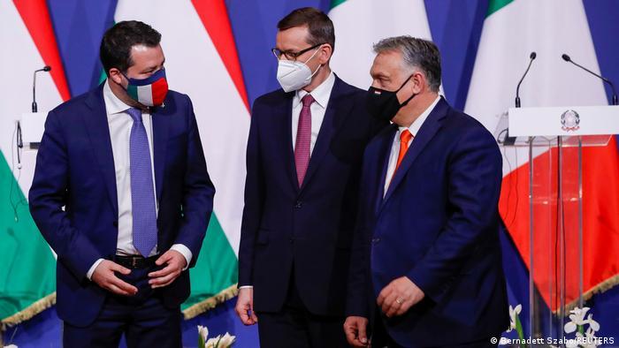 Ungarn Budapest | Treffen Salvini, Morawiecki und Orban