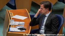 Niederlande Den Haag | Mark Rutte im Parlament