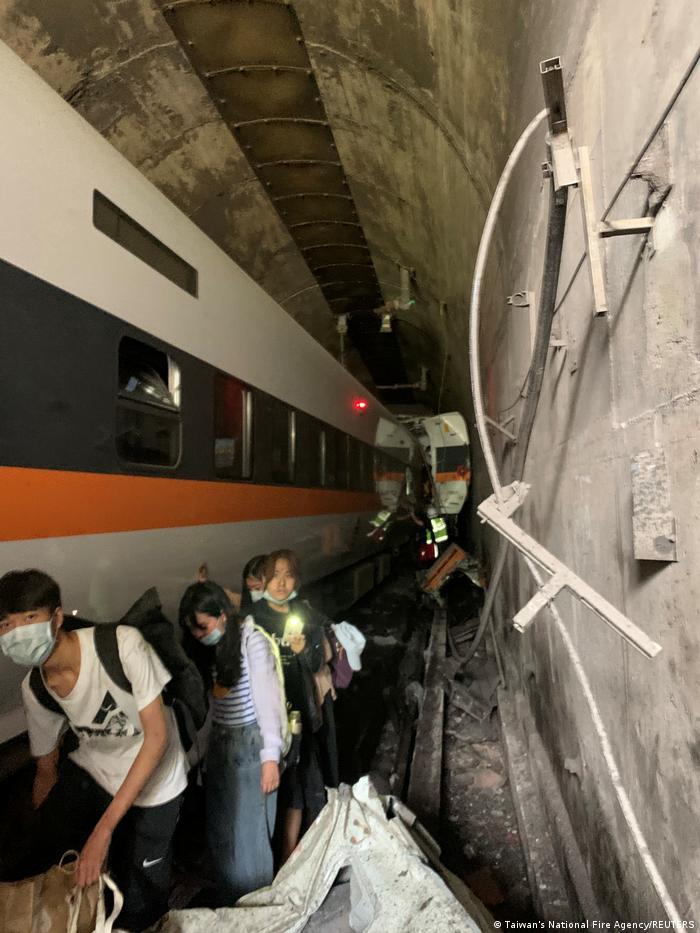 Taiwan Zugunglück Tunnel Hualien