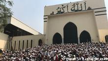 Bangladesch Hefazat-e-Islam organisierte einen Protest vor der Baitul Mukarram Nationalmoschee in Dhaka