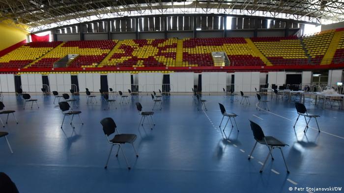 Nordmazedonien Corona Impfung | Sporthalle Boris Trajkovski