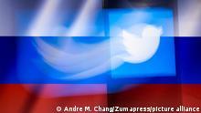Twitter App Icon mit russischer Flagge