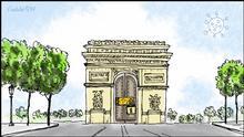 Karikatur von Vladdo Francia: nuevos cierres