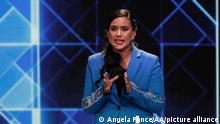 Peru Lima | Veronika Mendoza bei Debatte zur Presidentschaftswahl