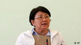 Kyrgyzstan's interim government leader Roza Otunbayeva