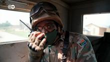 Demokratische Republik Kongo Blauhelm-Soldat der UN-Friedensmission MONUSCO