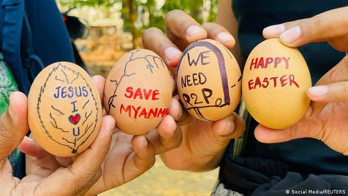 Protes telur Paskah Myanmar