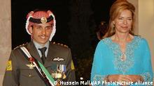 Jordaniens Prinz Hamsa mit seiner Mutter Königin Noor