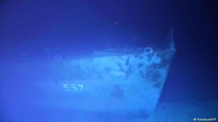 Foto mostra destroços do navio de guerra USS Johnston no fundo do mar nas Filipinas
