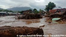 Indonesien Überschwemmungen und Erdrutsche nach heftigen Regenfällen