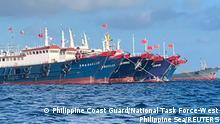 Südchinesisches Meer Chinesische Schiffe am Whitsun Reef
