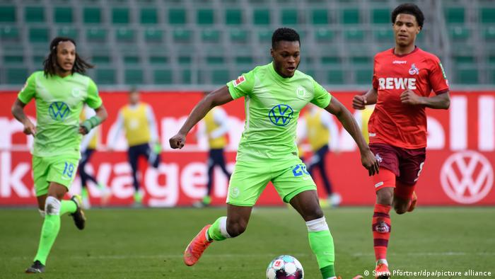 Wolfsburg's Ridle Baku in action against Cologne in the Bundesliga
