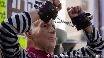 Jerusalem Proteste Benjamin Netanjahu Korruptionsprozess