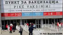 Nordmazedonien | Impfzentrum in Skopje