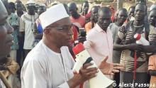 Wahlkampf Saleh Kebzabo am 5. April 2021 in Koumi im Süden des Tschad.