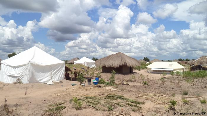 Refugee tents in Mozambique