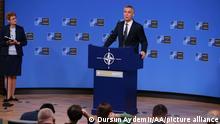 Belgien Pressekonferenz des NATO-Generalsekretärs Stoltenberg