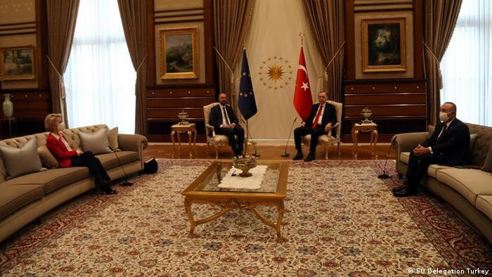 Brussels chides Turkey on ′sofagate′ von der Leyen snub | News | DW | 07.04.2021