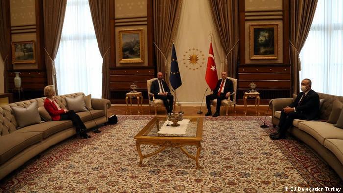 أردوغان- ميشال- فون دير لاين