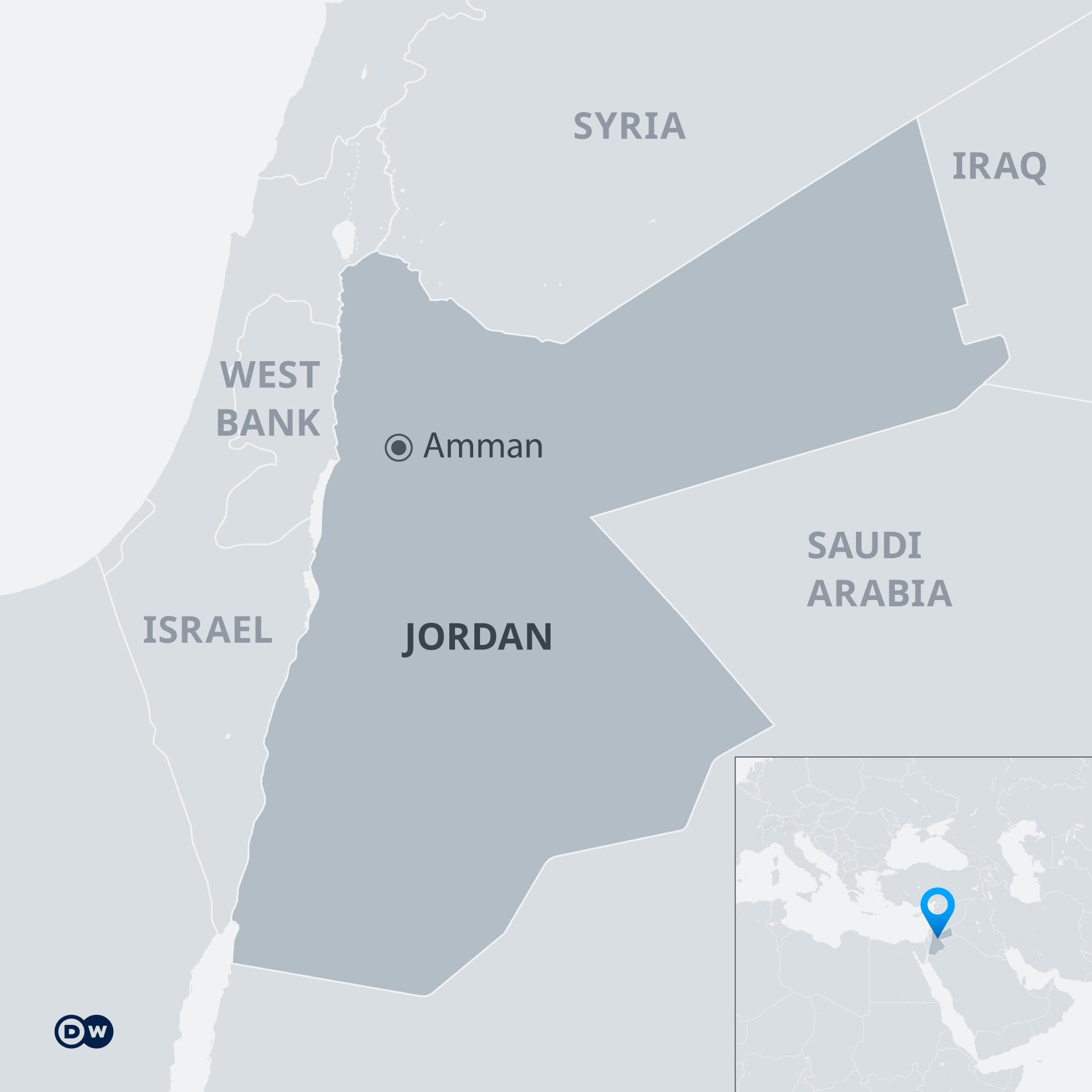 Peta Yordania