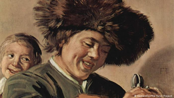 Malerei | Two Laughing Boys with a Mug of Beer von Frans Hals